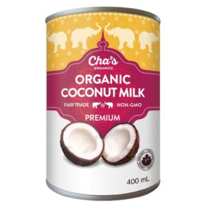 Cha's Organics premium coconut milk (fair trade, organic) on Rosette Fair Trade