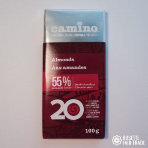 Almond dark chocolate by Camino on Rosette Fair Trade