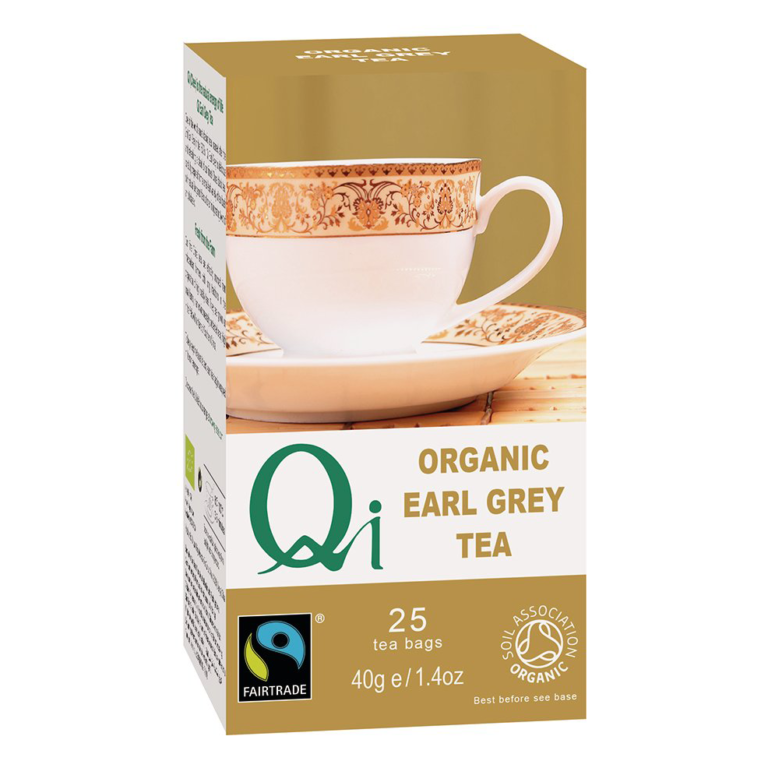 Fairtrade Earl Grey Tea (organic) by Qi Teas is available on Rosette Fair Trade's online store
