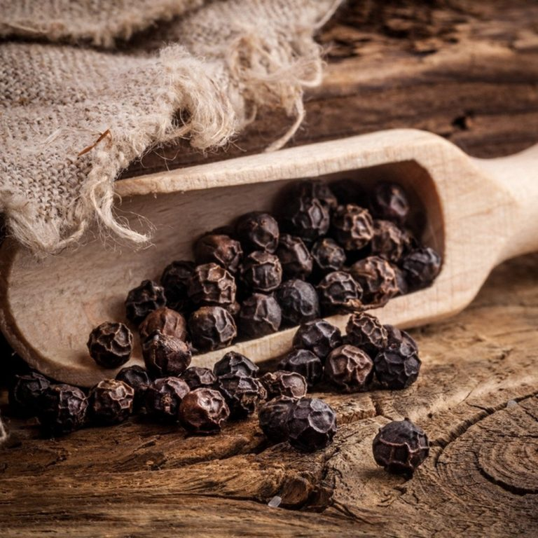 Fairtrade black pepper (whole) by Cha's Organics available at Rosette Fair Trade's online store
