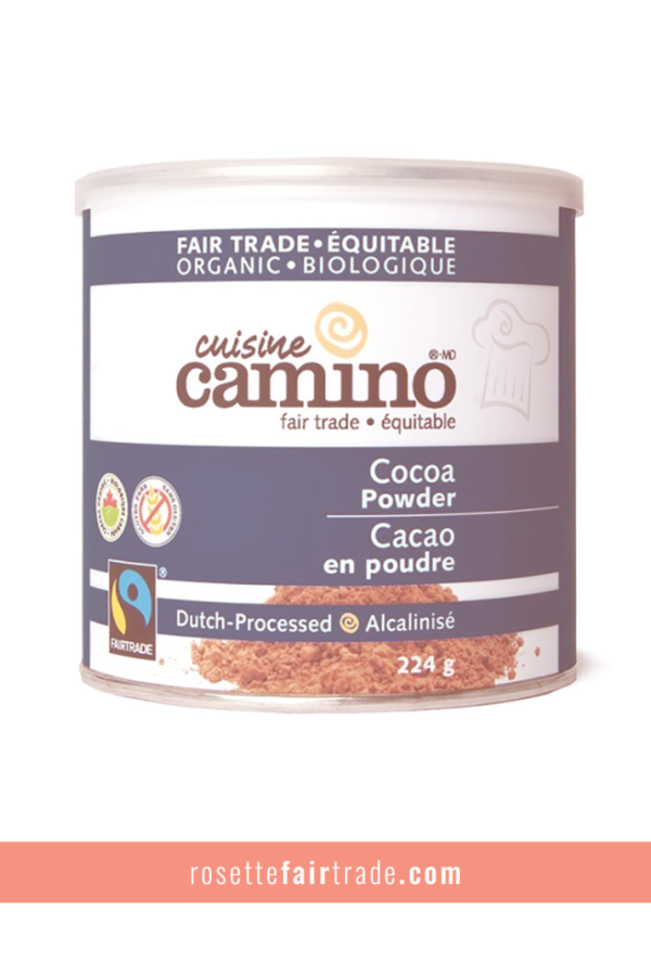 Fairtrade cocoa powder (Dutch processed) by Camino on Rosette Fair Trade