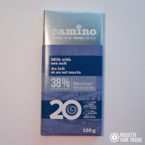 Milk chocolate with sea salt by Camino on Rosette Fair Trade