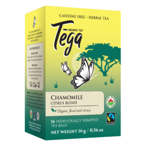 Tega Organic Teas Chamomile Citrus blend fair trade organic tea on Rosette Network