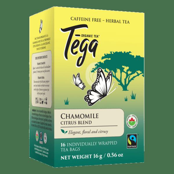 Tega Organic Teas Chamomile Citrus blend fair trade organic tea on Rosette Network