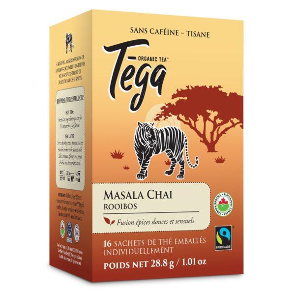 Tega Organic Teas Masala Chai Rooibos equitable tisane biologique on Rosette Network