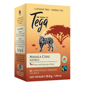 Tega Organic Teas Masala Chai Rooibos fair trade organic tea on Rosette Network