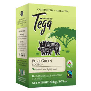 Tega Organic Teas pure green rooibos fair trade organic tea on Rosette Network