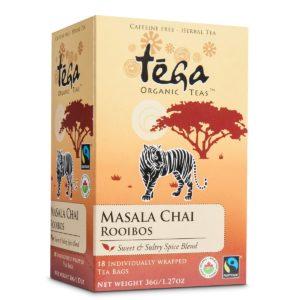 Fairtrade chai rooibos by Tega Organic Tea, available on Rosette Fair Trade's online store