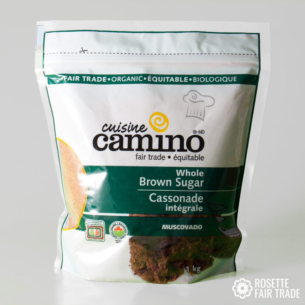 Whole brown sugar (muscovado) by Camino on Rosette Fair Trade