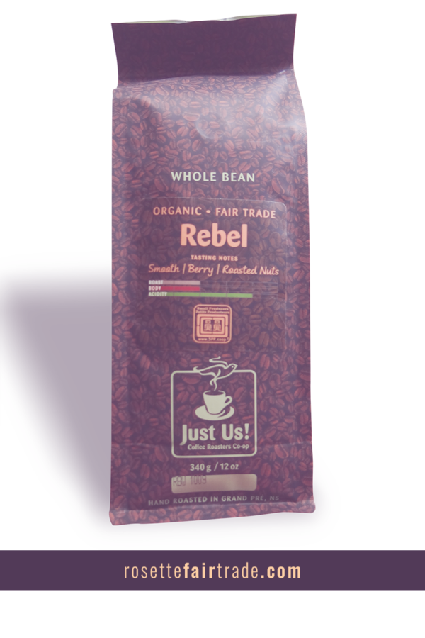 Fairtrade coffee (Rebel) by Just Us on Rosette Fair Trade