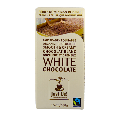 Just Us White Chocolate 100g Rosette Fair Trade Online