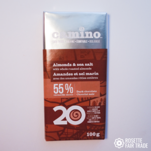 Almonds and sea salt chocolate by Camino on Rosette Fair Trade