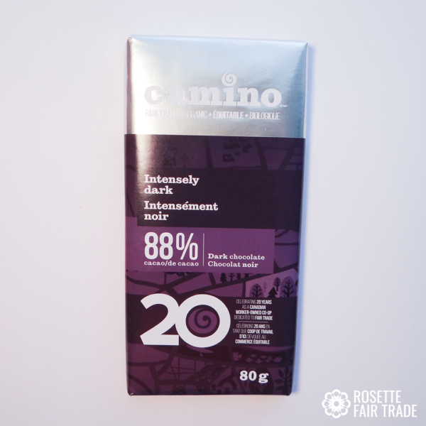 Intensely dark chocolate by Camino on Rosette Fair Trade