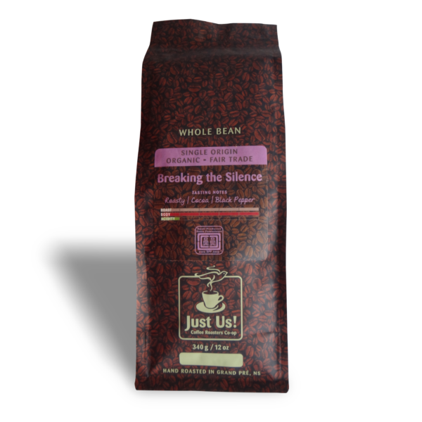 Just Us Breaking the Silence coffee (fair trade, organic) on Rosette Fair Trade