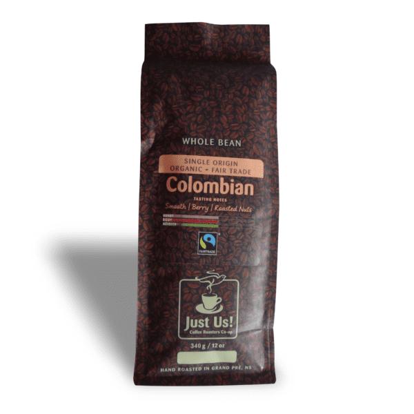 Just Us Colombian coffee (medium roast, fair trade, organic) on Rosette Fair Trade