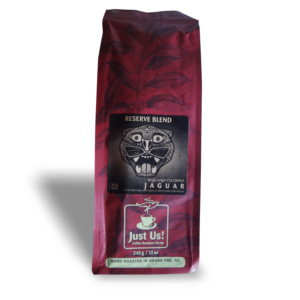 Just Us Jaguar espresso coffee (fair trade, organic) on Rosette Fair Trade