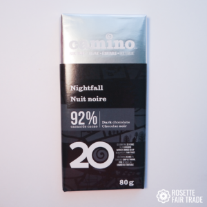 Nightfall dark chocolate by Camino on Rosette Fair Trade