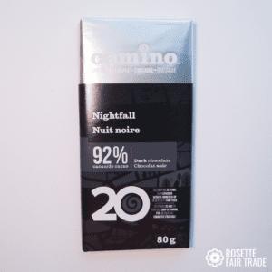 Nightfall dark chocolate by Camino on Rosette Fair Trade