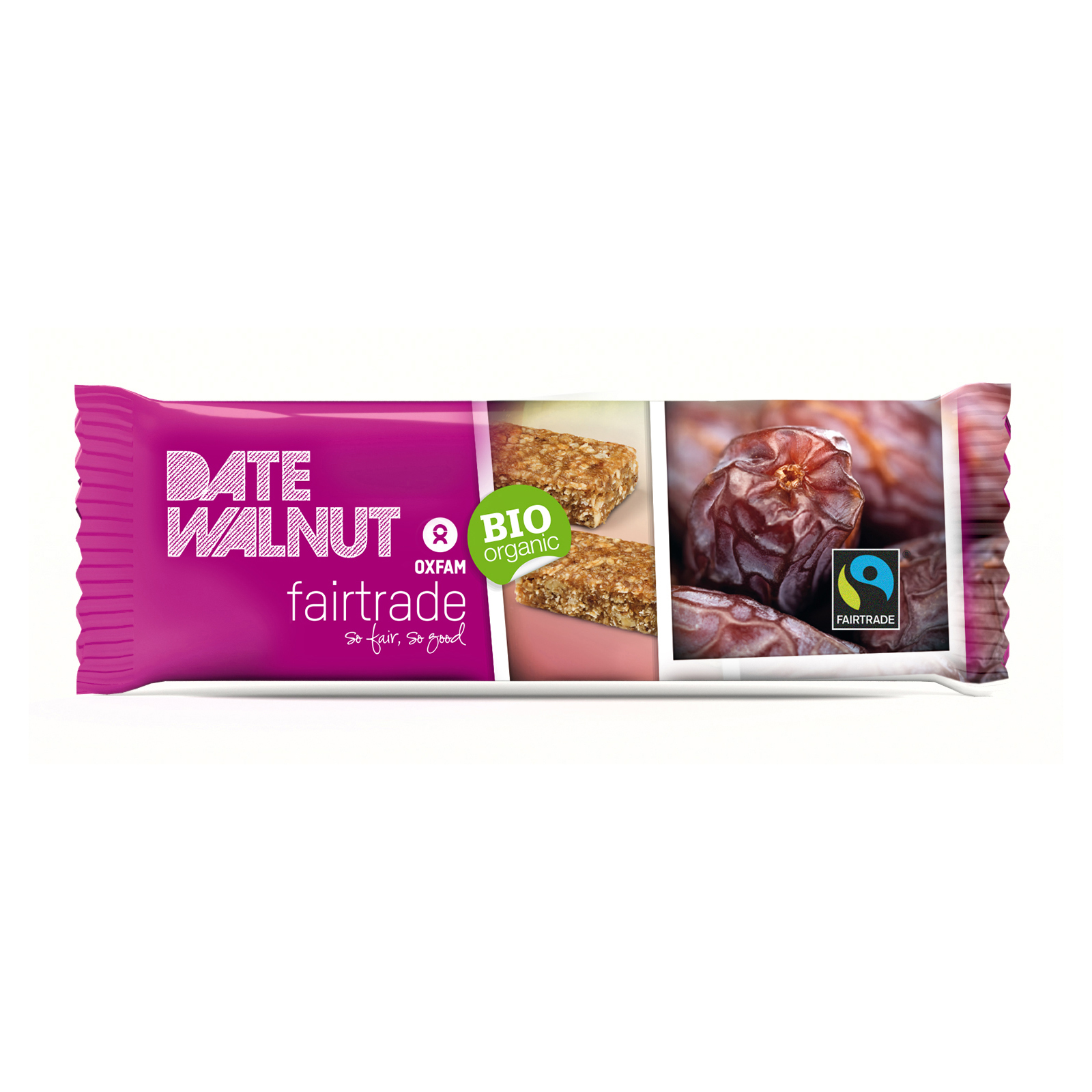 Date walnut snack bar (Oxfam Fair Trade) on Rosette Fair Trade
