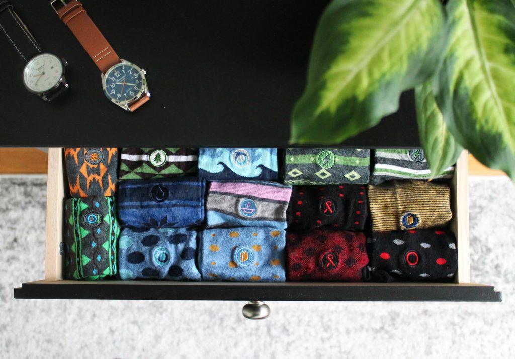 Etik & co. socks patterned on Rosette Fair Trade