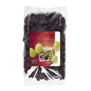 Fair trade raisins (Thompson) from Oxfam Fairtrade on the Rosette Fair Trade online store
