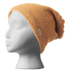 Fair trade slouchy hat (Parkdale) by Ark Imports in honey brown on Rosette Fair Trade