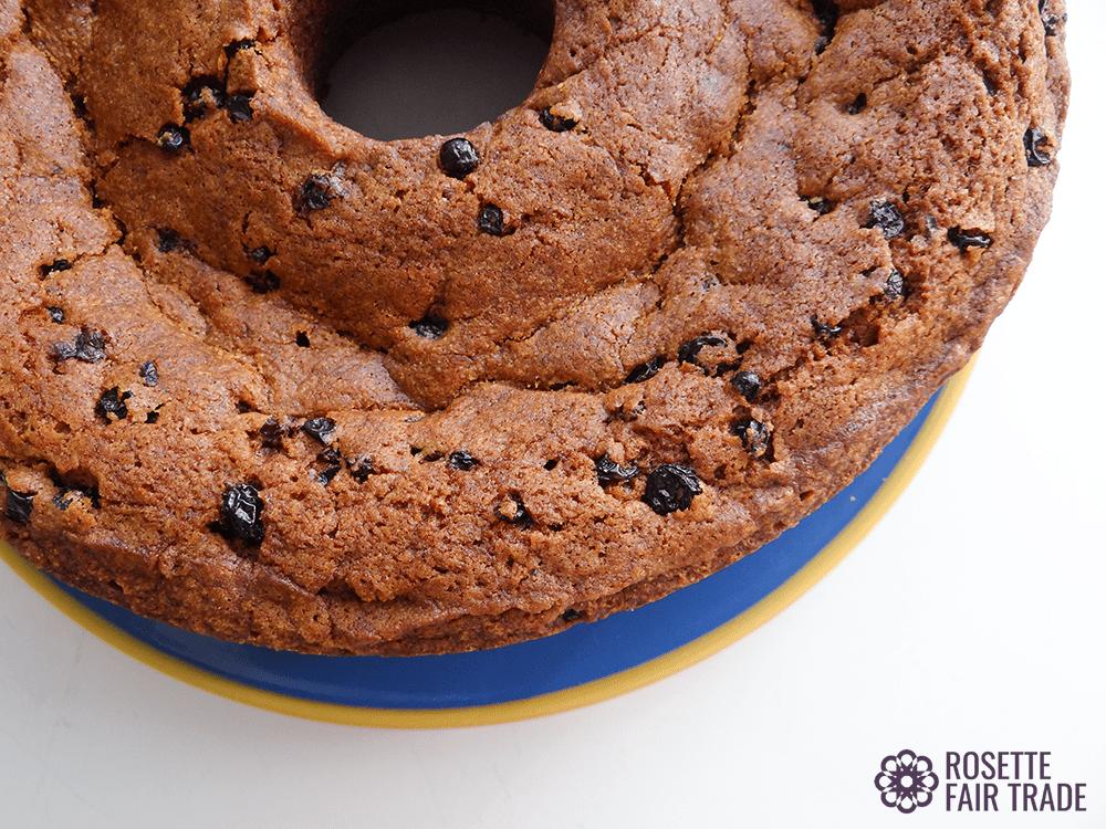 Grannys vegan raisin spice cake recipe on Rosette Fair Trade (edge)