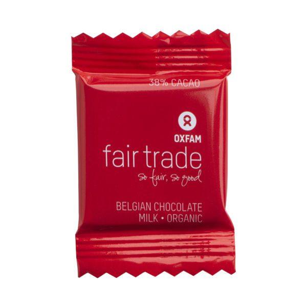 Mini Belgian milk chocolates by Oxfam Fair Trade on Rosette Fair Trade