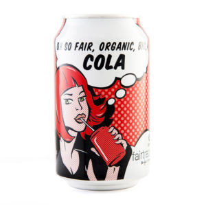 Oxfam Fair Trade cola (similar to Coke) on Rosette Fair Trade
