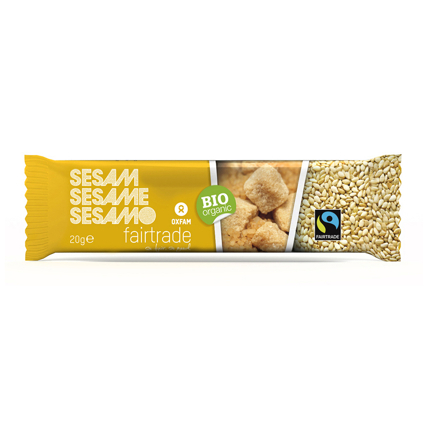 Sesame seed bar (Oxfam Fair Trade) on Rosette Fair Trade