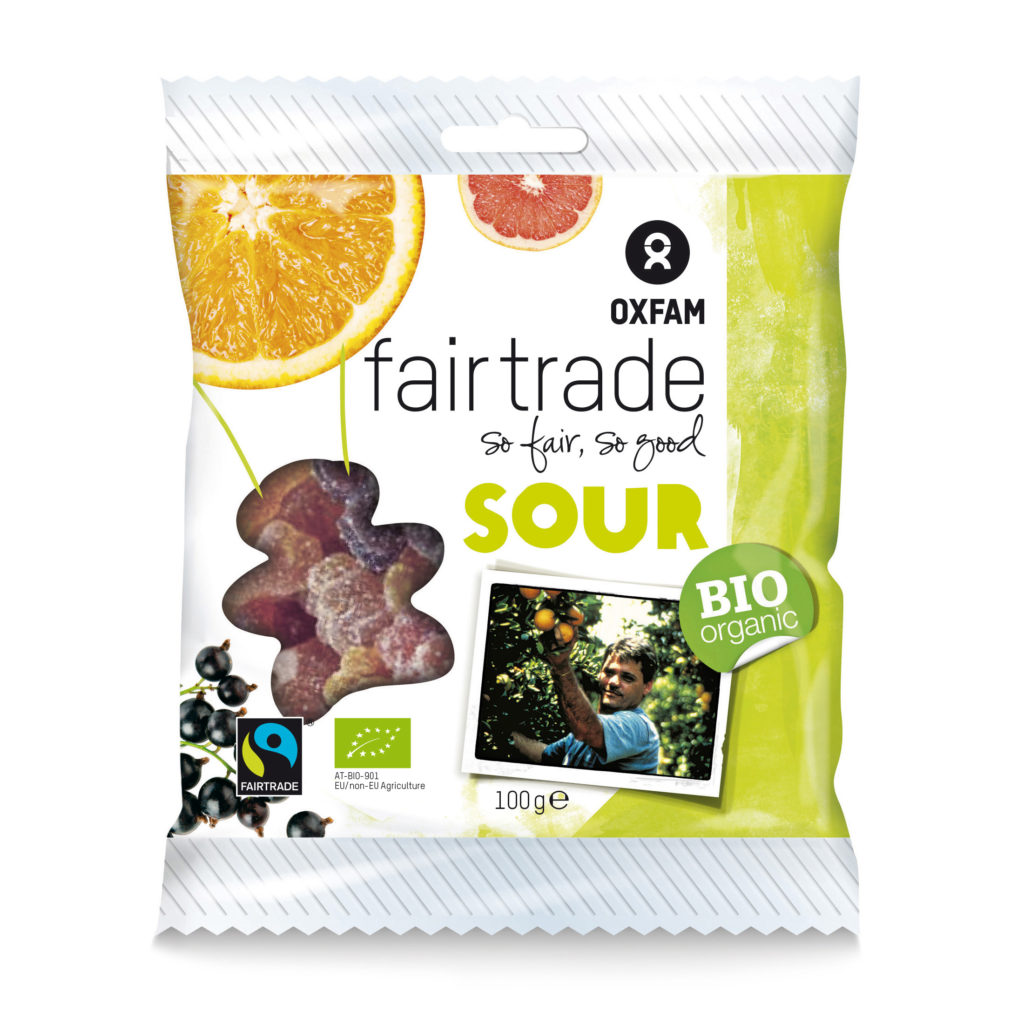 Sour gummy bears from Oxfam Fair Trade (candy) on Rosette Fair Trade