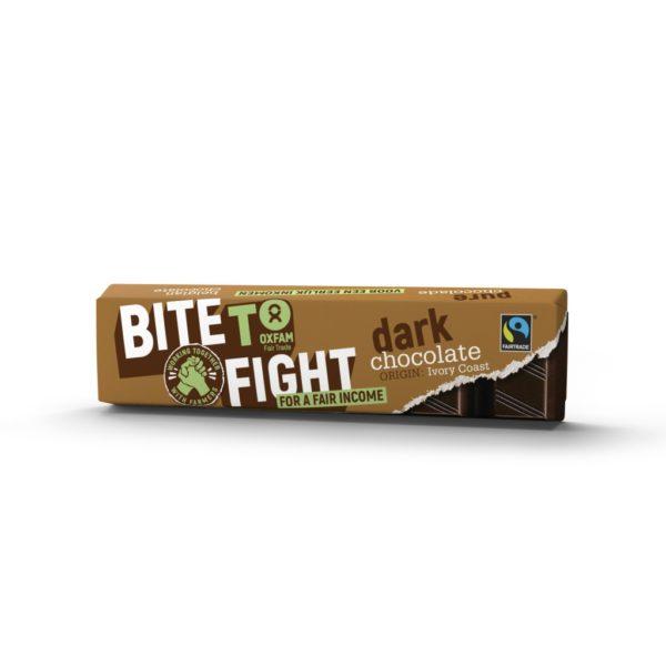 Fair trade Belgian dark chocolate 50g bar from Oxfam Fair Trade on Rosette