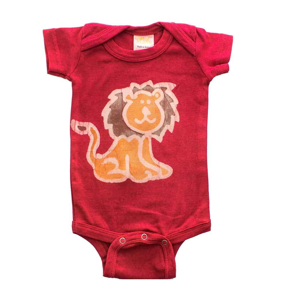 Baby lion onesie from Pure Art on Rosette Fair Trade