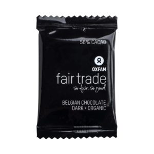 Belgian Dark chocolate minis by Oxfam Fair Trade on Rosette Fair Trade