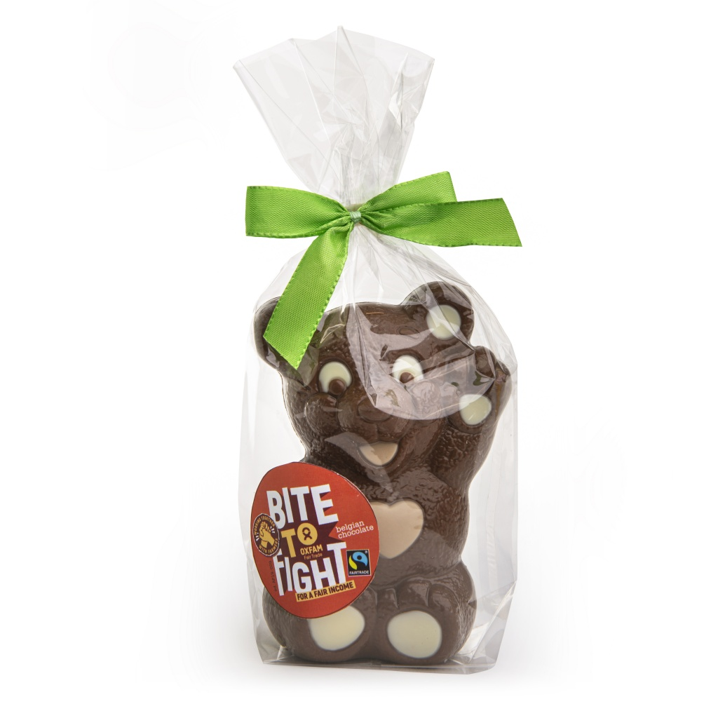 Fair trade Belgian milk chocolate teddybear from Oxfam Fair Trade on Rosette
