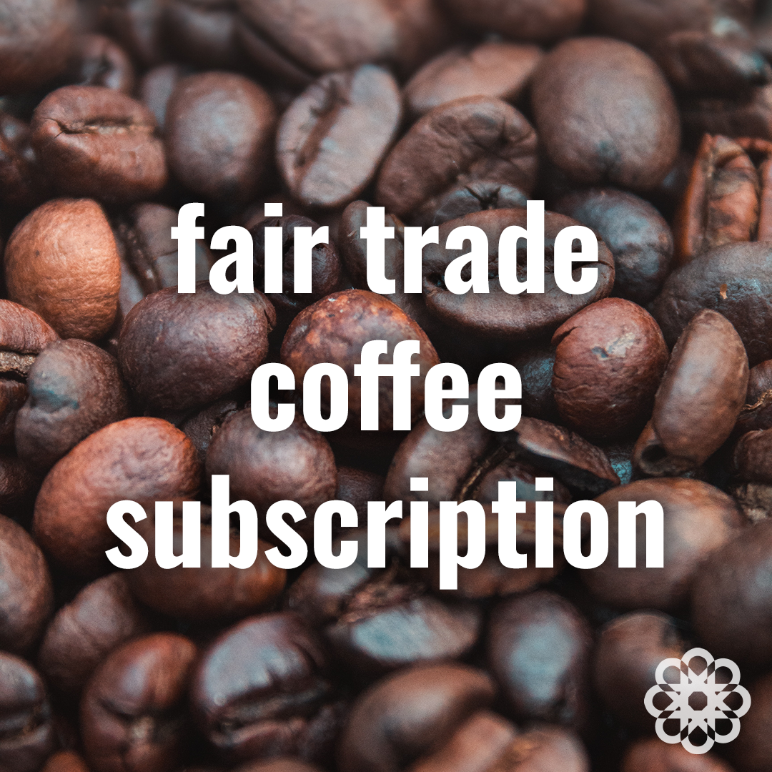 Fair trade coffee subscription (single, double and office boxes) on Rosette Fair Trade