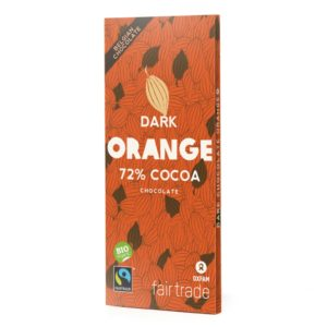Belgian dark chocolate with orange from Oxfam Fair Trade (organic) on Rosette Network online store