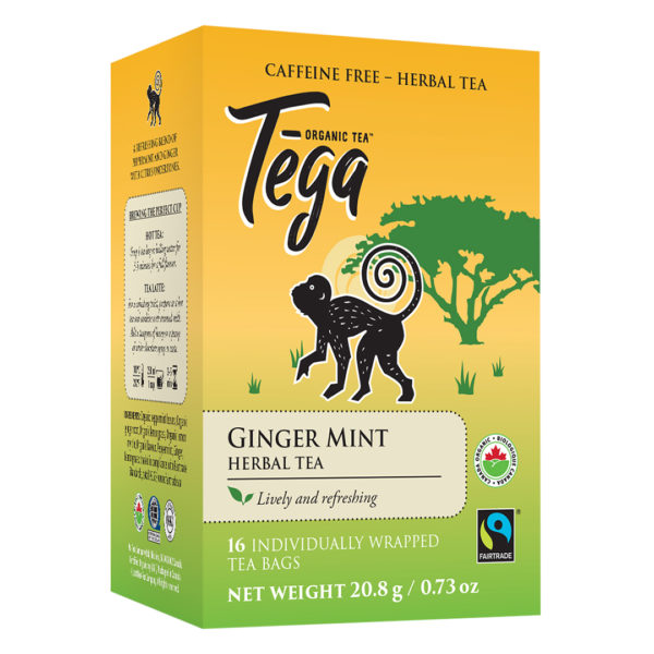 Ginger Mint herbal tea from Tega Organic Tea (fair trade, organic) on Rosette Network