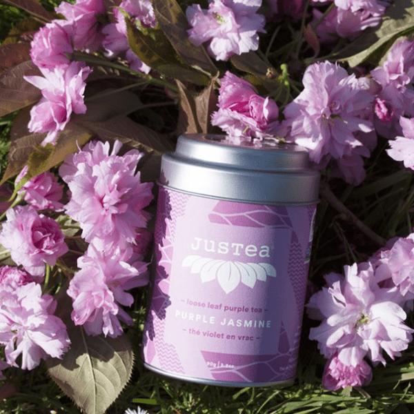 Purple Jasmine loose leaf tea by JusTea on Rosette Fair Trade