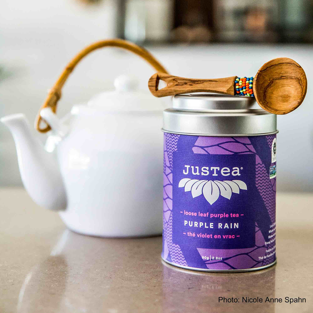 Purple Rain loose leaf tea by JusTea on Rosette Fair Trade