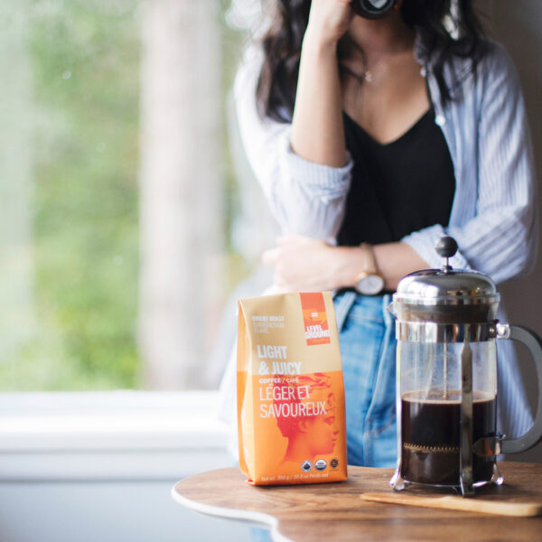 Bright Roast light coffee by Level Ground Trading on Rosette Fair Trade