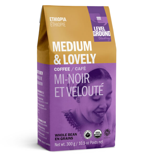 Ethiopia medium roast coffee by Level Ground Trading on Rosette Fair Trade
