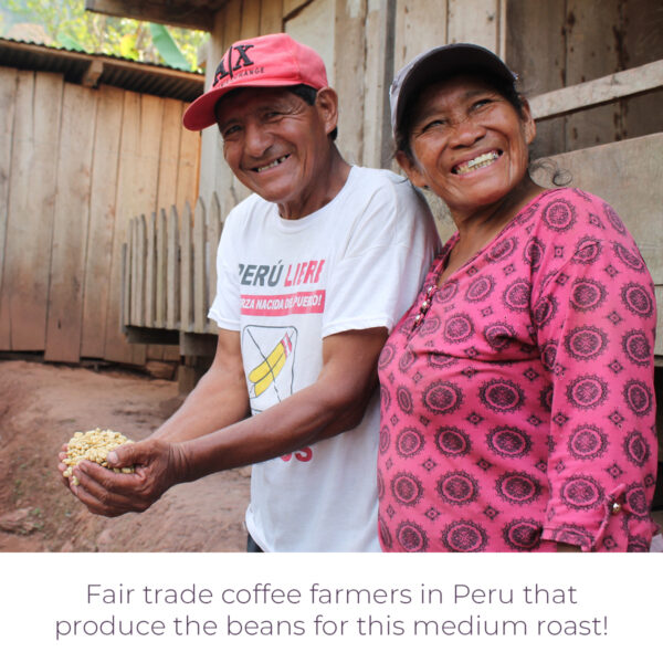 Fair trade coffee producers in Peru that produce the green beans for Level Ground Peruvian medium roast coffee (Rosette Fair Trade)