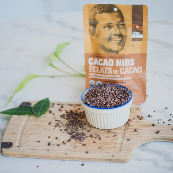 Level Ground cacao nibs (direct fair trade, organic) on the Rosette Network online store