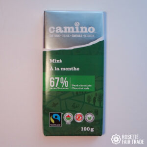 Mint dark chocolate by Camino on Rosette Fair Trade