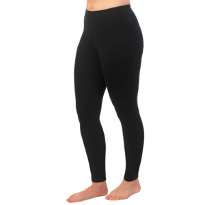 Organic cotton basic leggings by Maggies Organics (black) on Rosette Fair Trade