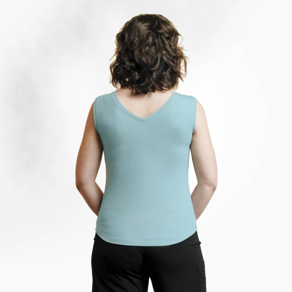 Organic cotton spring tank by Maggies Organics (scoop back) on Rosette Fair Trade