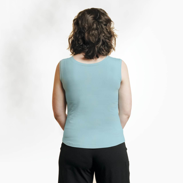 Organic cotton spring tank by Maggies Organics (v-neck back) on Rosette Fair Trade