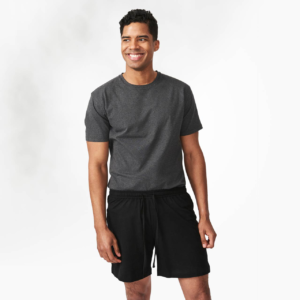 Organic cotton unisex shorts by Maggies Organics (black, front) on Rosette Fair Trade