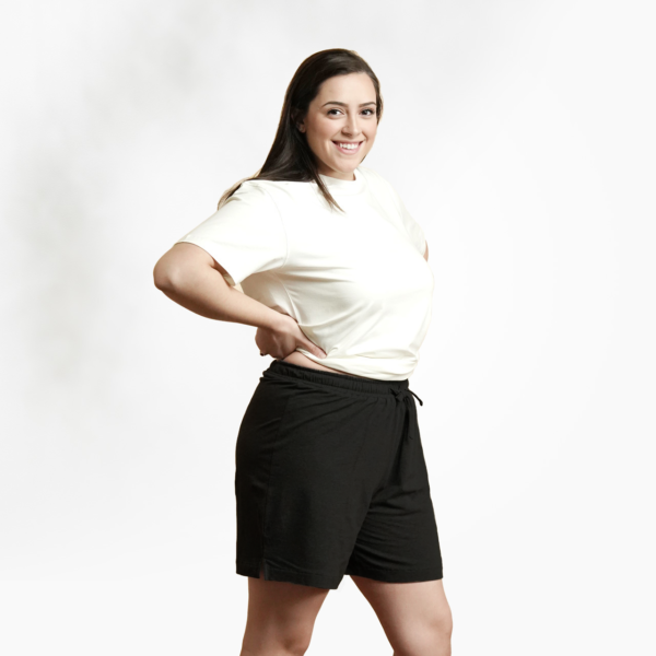 Organic cotton unisex shorts by Maggies Organics (black) on Rosette Fair Trade